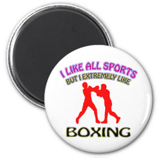 Boxing designs 2 inch round magnet