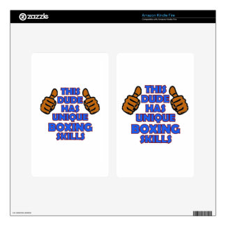 boxing Designs Kindle Fire Decal