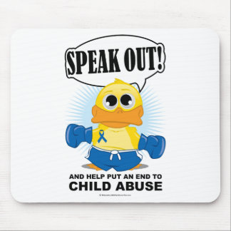 Boxing Duck Child Abuse Mouse Mat