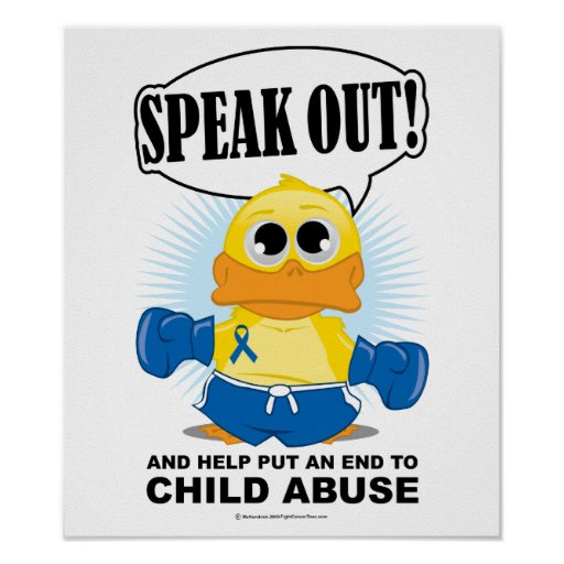 Boxing Duck Child Abuse Poster