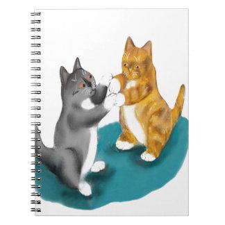 Boxing Duo - two kitten Siblings Notebook