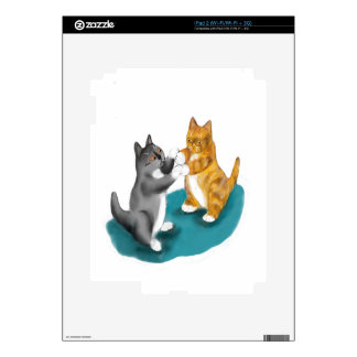 Boxing Duo - two kitten Siblings Skins For iPad 2