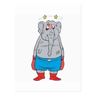 Boxing Elephant Postcard