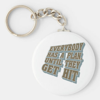 Boxing - Everybody has a plan, until they get hit Basic Round Button Keychain