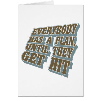 Boxing - Everybody has a plan, until they get hit Greeting Card