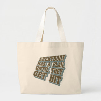 Boxing - Everybody has a plan, until they get hit Jumbo Tote Bag