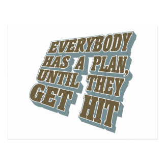 Boxing - Everybody has a plan, until they get hit Postcard