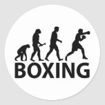Boxing Evolution Classic Round Sticker