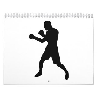 Boxing fighter wall calendar