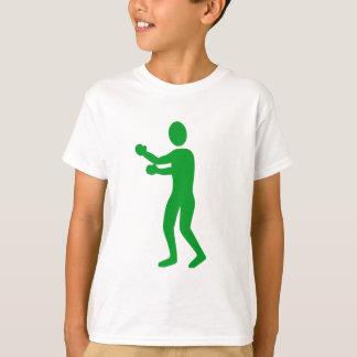 Boxing Figure - Grass Green T-Shirt