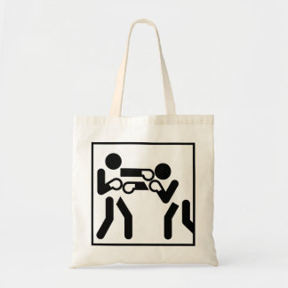 Boxing Figures Canvas Bag