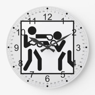 Boxing Figures Large Clock
