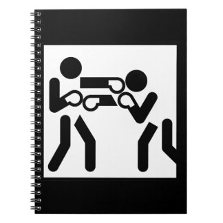 Boxing Figures Spiral Notebook