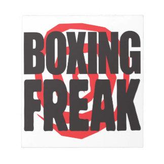 Boxing Freak Memo Note Pad
