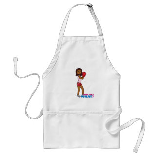 Boxing Girl Adult Apron