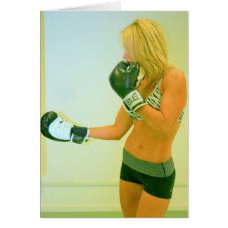 Boxing girl card