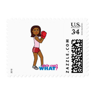 Boxing Girl Postage Stamp