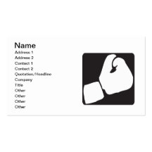 Boxing Glove Double-Sided Standard Business Cards (Pack Of 100)
