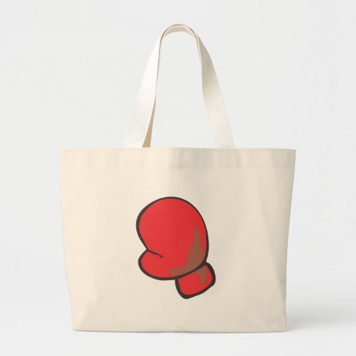 Boxing Glove in Hand drawn Style Tote Bags