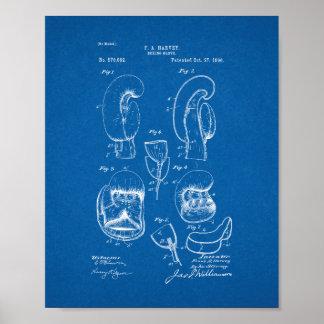 Boxing Glove Patent - Blueprint Poster