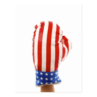 BOXING GLOVE POST CARD