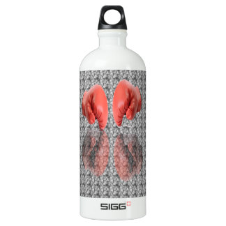Boxing Glove With Background Pattern Water Bottle