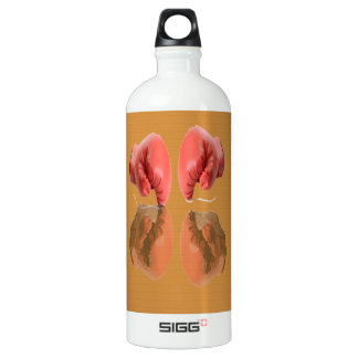 Boxing Glove With Background wood Aluminum Water Bottle