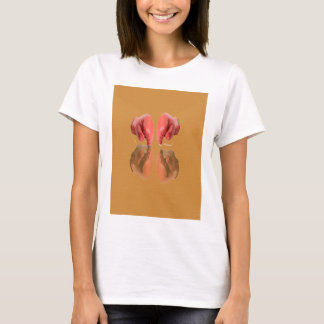 Boxing Glove With Background wood T-Shirt