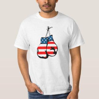 Boxing Gloves America USA Flag Stars Colors T-Shirt