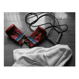 Boxing Gloves and Gym Workout Postcard
