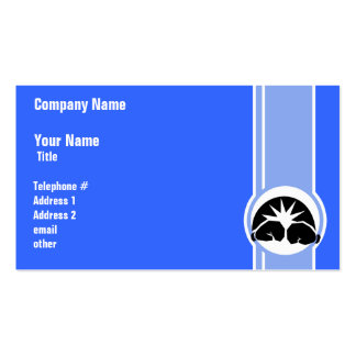 Boxing Gloves; blue Double-Sided Standard Business Cards (Pack Of 100)