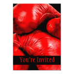 Boxing Gloves Boxer Grunge Style Personalized Announcements