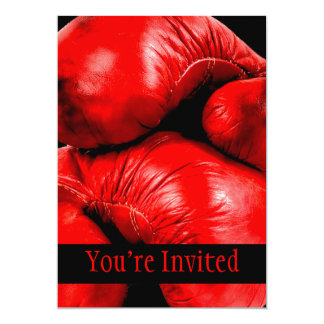 Boxing Gloves Boxer Grunge Style 5x7 Paper Invitation Card