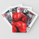 Boxing Gloves Boxer Grunge Style Poker Deck