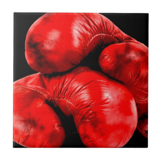 Boxing Gloves Boxer Grunge Style Small Square Tile