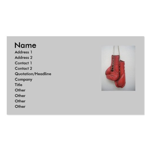 Boxing Gloves Business Card