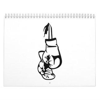 Boxing gloves calendar