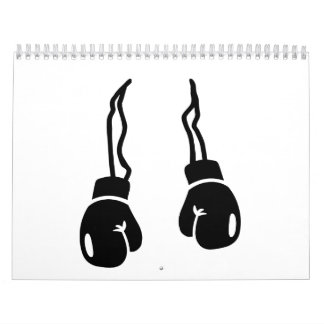 Boxing gloves calendar