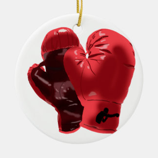 Boxing Gloves Ceramic Ornament