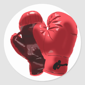 Boxing Gloves Classic Round Sticker