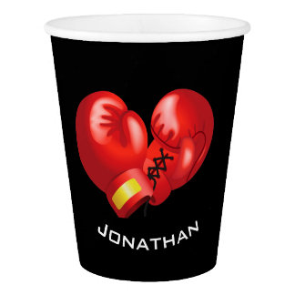 Boxing Gloves  Design Paper Cup