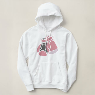 Boxing Gloves Embroidered Hoodie