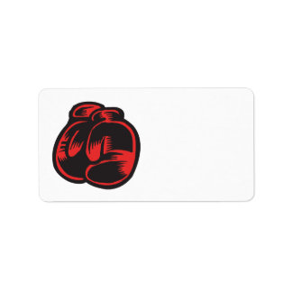 Boxing Gloves Label