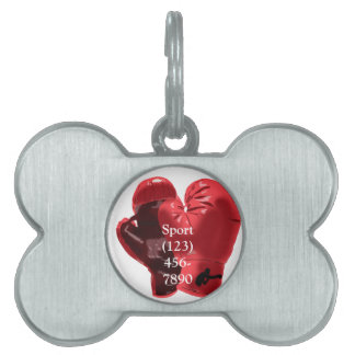 Boxing Gloves Pet ID Tag