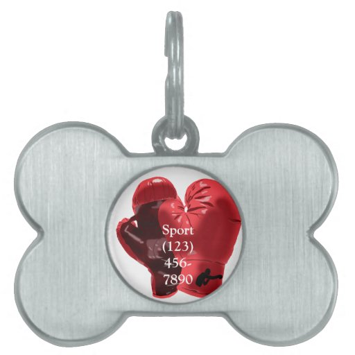 Boxing Gloves Pet ID Tags