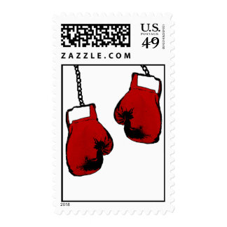 Boxing Gloves Postage Stamp