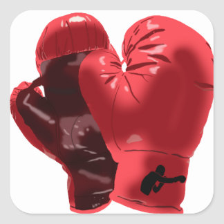 Boxing Gloves Square Sticker
