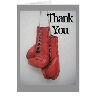 Boxing Gloves Thank You card