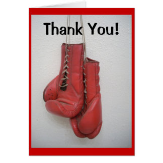 Boxing Gloves, Thank You Cards