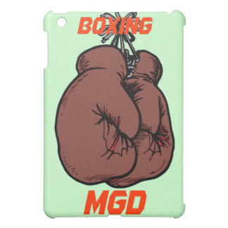 Boxing gloves with monogram on ipad skin cover for the iPad mini